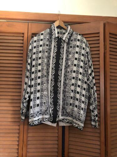 Creme De Silk Men 100% Silk  Shirt Size M