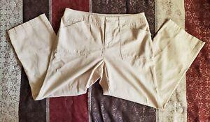 Womens-Jones-New-York-Sport-Beige-Stretch-Capri-Pants-Size-10
