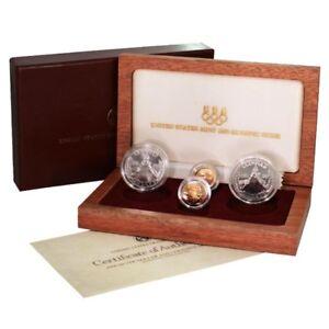 Usa Olympic Commemorative Set Gold Amp Silver 1988 S D W 4 Coins Proof Bu Mint B Ebay