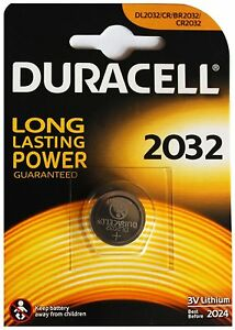 Batteria Duracell 2032 Bottone Litio Volume Large