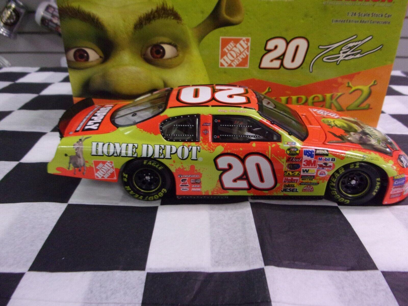 marca famosa Tony Stewart  20 Home Home Home Depot 2004 Shrek 2 MonteCochelo 1 24 acción 105891  producto de calidad