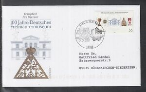 LA-104-Germany-2002-100-years-Freemasonry-Museum-Bayreuth-of-beautiful-FDC
