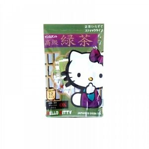 Offcial-Item-HELLO-KITTY-Instant-Green-Tea-Stick-Type-12pcs-for-HOT-amp-COLD