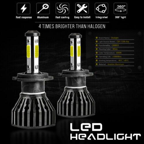 2x Bulbs H7 LED Headlight Low Beam 80W 6000K White For Peugeot 307 2002-2005