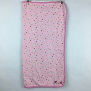 Child Of Mine carters Pink Heart Polka Dots Hooded Bath Robe One Size infant