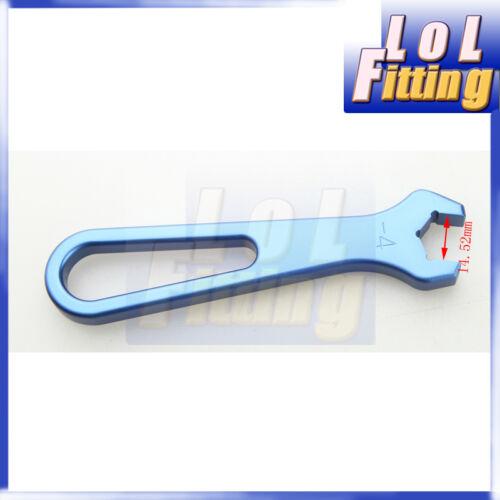 4 AN4 AN 4 14.52mm 4AN AN Single Ended Wrench Spanner Aluminum Blue