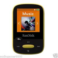 Sandisk Clip Sport 8gb Mp3 Player Yellow With Lcd Screen And Microsdhc Card Slot