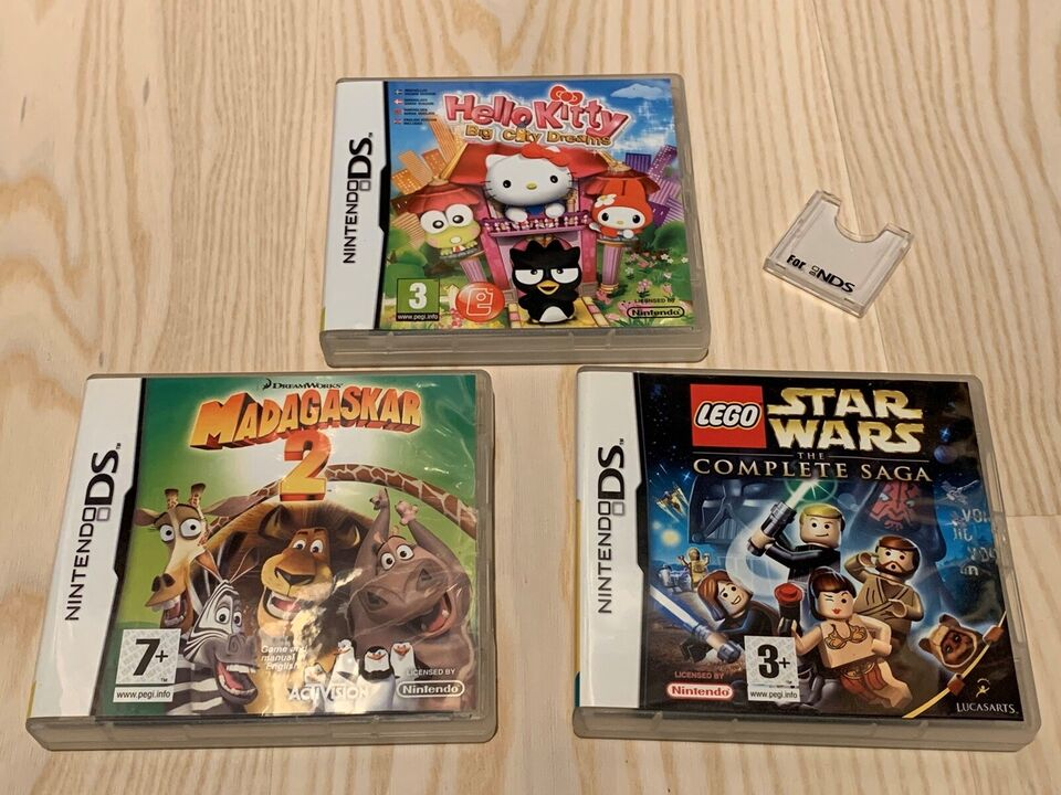 Lego Star Wars, Madagaskar og Hello Kitty, Nintendo DS