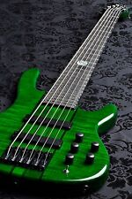 Wolf 6 String active Jazz High Gloss Green Bass w/ Gigbag