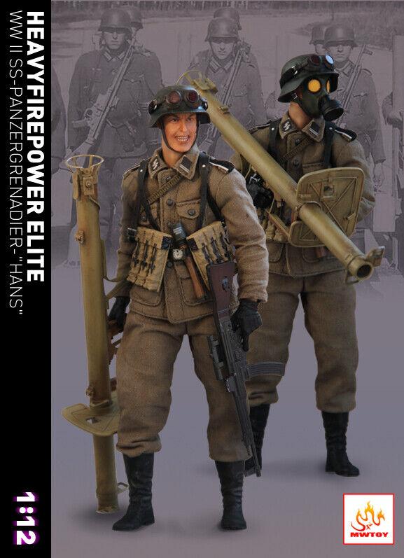 MWgiocattolo MW001 1 12  WWII Panzergrenadier cifra Set 6'' Geruomo Soldier w  2 Head  ti aspetto