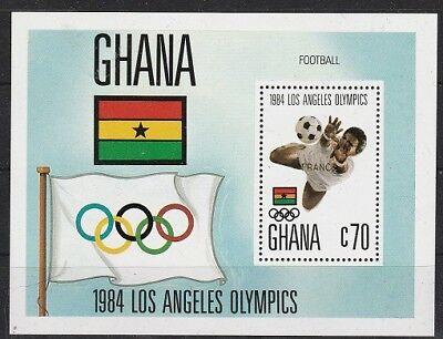 Briefmarken V5299 Ghana/ Olympia 1984-fussball Minr Block 109 ** Afrika
