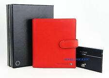 MONTBLANC MEISTERSTUCK RED LEATHER SMALL ORGANIZER 101760 MADE IN GERMANY NEW #3