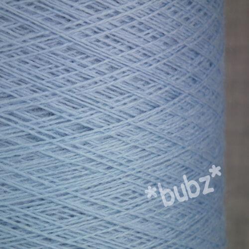 Doux Pure Laine Mérinos Bleu Layette 250 G Cône 2//30s laceweight toile d/'araignée fil Light Sky