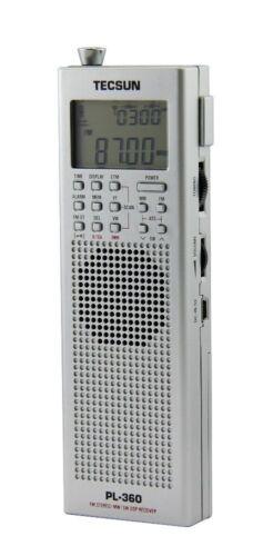 SW Portable Receiver TECSUN PL360 PLL DSP Radio FM LW AM MW Silver