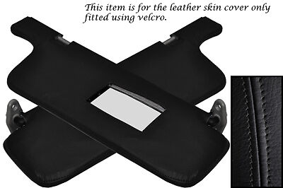 BLACK STITCH FITS NISSAN 200SX S13 1988-1994 2X SUN VISORS LEATHER COVERS ONLY