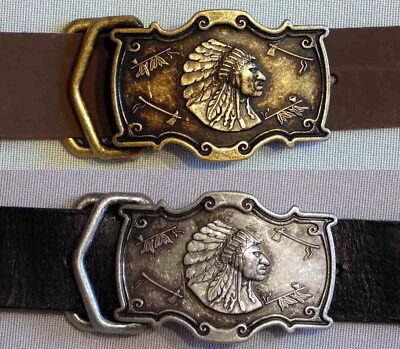 """1a Oggetti Da Qualità In Pelle Cintura In Pelle Indiani Nuovo Winnetou 40mm Cintura Western #-t Ledergürtel Leder Indianer Neu Winnetou 40mm GÜrtel Western #"""" Data-mtsrclang=""""it-it"""" Href=""""#"""" Onclick=""""return False;""""> Asciugare Senza Stirare"""