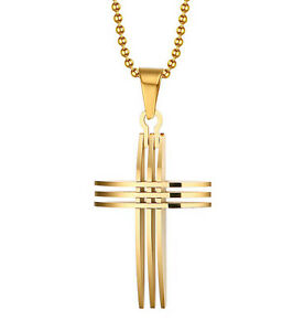 Gold chain necklace for men cross 2017