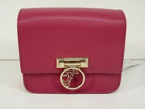 187586d687c7 Image is loading NEW-Versace-Collection-Small-Saffiano-Leather-Crossbody-Bag -