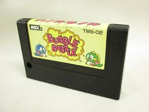 MSX-BUBBLE-BOBBLE-MSX2-Cartridge-only-Ref-1520-Japan-Video-Game-msx