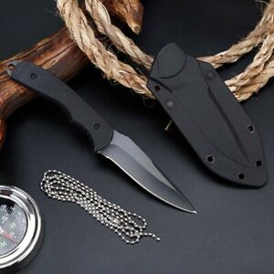 Fixed-Blade-Straight-Tactical-Military-Pocket-Hunting-Outdoor-Knife-With-Sheath