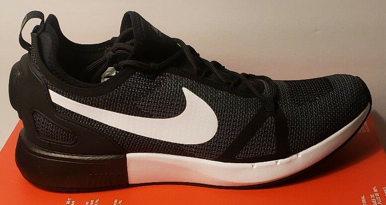 Nike Duel Racer 918228-010 Black White Grey Men's Sportswear Running shoes 9 12.5