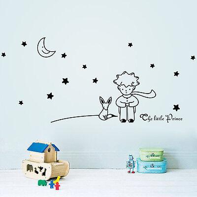 Stars Moon The Little Prince Boy Art Vinyl Wall Sticker Home decor Wall Decals