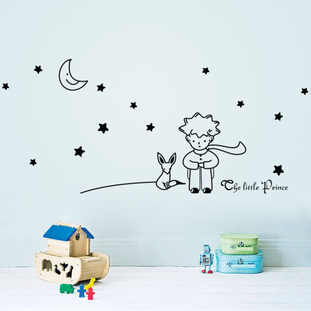 Stars Moon The Little Prince Boy Art Vinyl Wall Sticker Home decor Wall Decals
