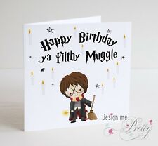 HARRY POTTER MUGGLE Birthday Card