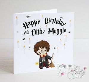 Image Is Loading HARRY POTTER MUGGLE Birthday Card Son Brother Nephew