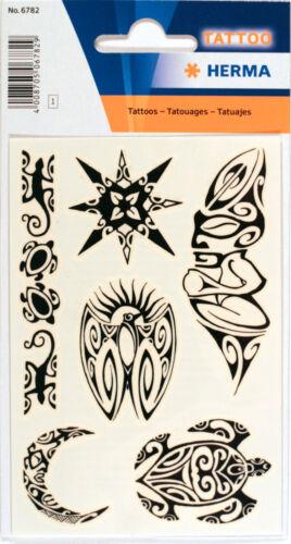 HERMA tatouages temporaires Motif Tribal Noir 1 Feuille autocollants 6812
