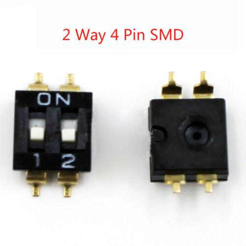 SMD DIP-Schalter 2 Positionen Codierschalter RM 2.54mm Codier Schiebeschalter