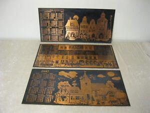 3X-Original-XL-DDR-Calendario-2-x-1986-1-X-1987-Plaste-Plastico