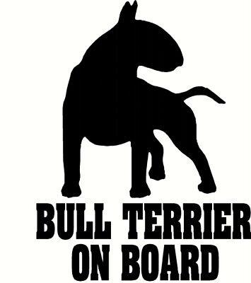 2 x adesivi in vinile 10cm-inglese Bull Terrier Cani COOL Regalo #3255