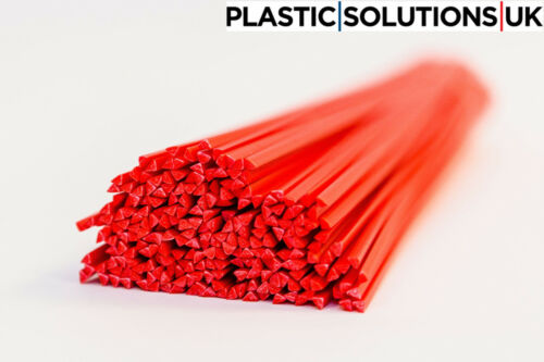 pack of 20 rods red 5mm triangle shape HDPE Plastic welding rods