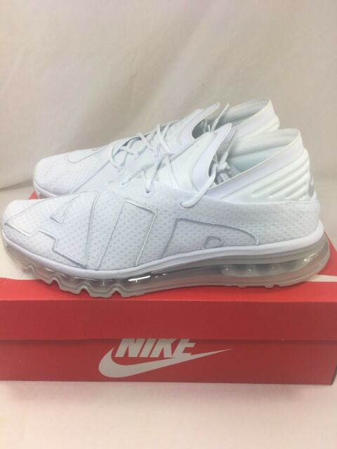 96a82d6b8173 Nike Air Max Flair Triple White pure Platinum Sz 10 More Uptempo for ...