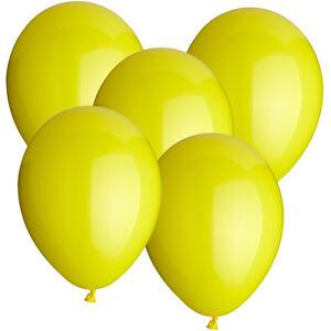 SALE-Latex-Luftballons-30-cm-rund-50-Stk-gelb-Dekoballons-Raumdeko