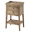 theodore alexander 2 drawer ardern rustic oak accent table 50051