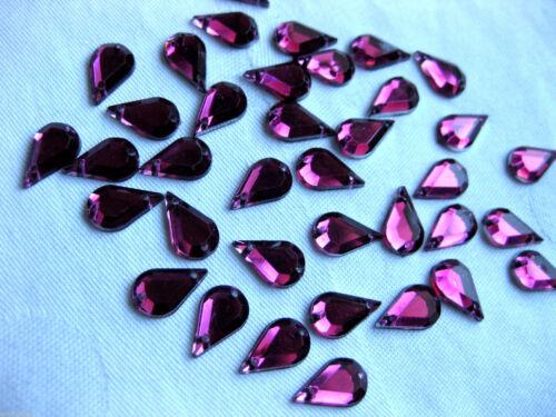 gotitas color elegibles para aufnähen st24 13x 8mm 100 de acrílico de pedrería-piedras fosforescentes
