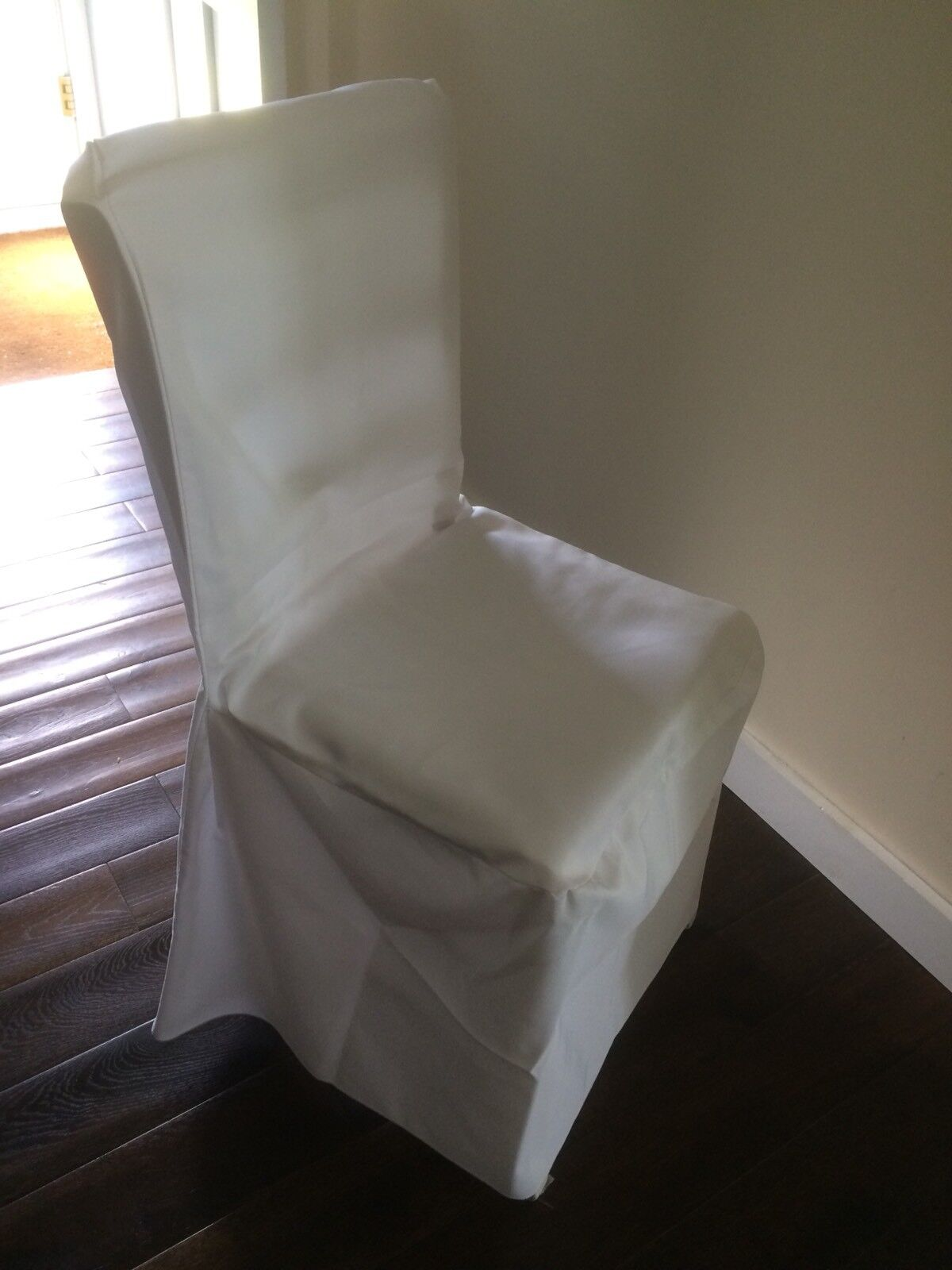 65 Ivory cream Loose Fitting Wedding Chair Covers Excellent Condition