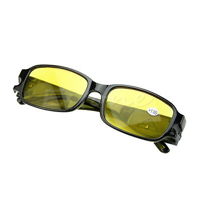 New Multi Strength Night Vision Reading Presbyopia Diopter Eyeglass Glasses LED