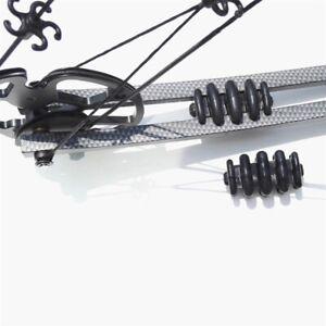 2pcs Archery Compound Bow Limbs Stabilizer Silencer Shock Absorber Dampener