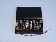 12 volt power supply. 8x AA 1.5volt battery holder.