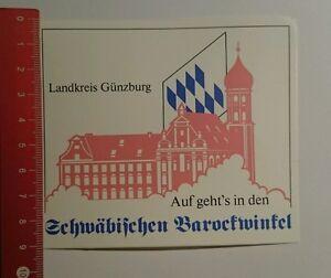 Aufkleber-Sticker-Landkreis-Guenzburg-Schwaebischen-Barockwinkel-18071674