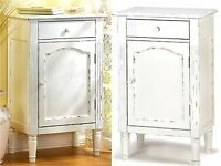 29 Graceful Antiqued Wood Storage Cabinet, Side, End Or Night Table