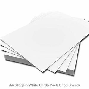 1000 x A4 QUALITY SMOOTH THICK WHITE PRINTER CRAFT CARD 300GSM