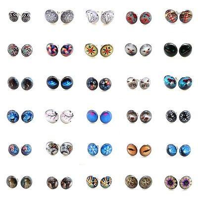 Multiple Top 30 Items #2 Arcylic Face Silver Steel Ear Plugs Fake Earrings Stud