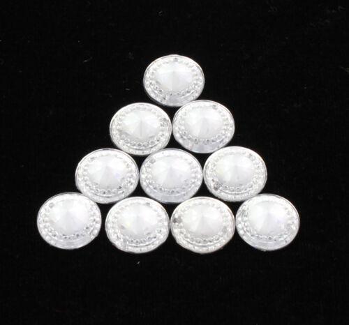 50 Pcs Heart Round Shape Transparent Flat Base Acrylic Beads Necklace Jewelry