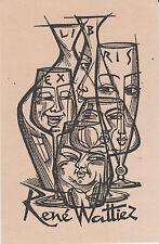 § EX-LIBRIS René WATTIEZ par Gerard GAUDAEN (1927-2003) - BELGIQUE §