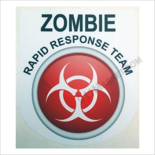 Car Truck Sticker Rapid Response Team Apocalypse Zombie RRT Bio Decal White