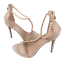 thumbnail 3 - Womens Ladies Beige Faux Suede High Heel T-Bar Party Sandals Shoes Size UK 7 New